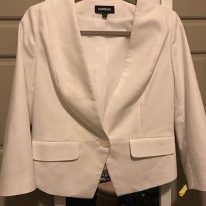 White Express Cropped Blazer